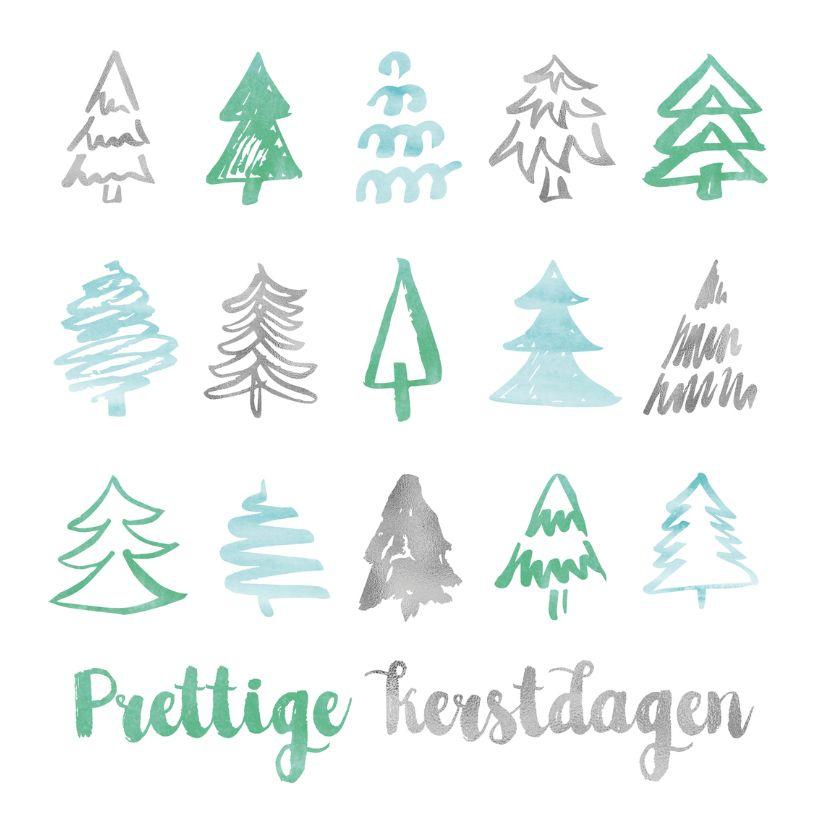 Kerstkaart Aquarel Bomen Kerstkaarten Kaartje2go Christmas Drawing Diy Christmas Cards Tree Print
