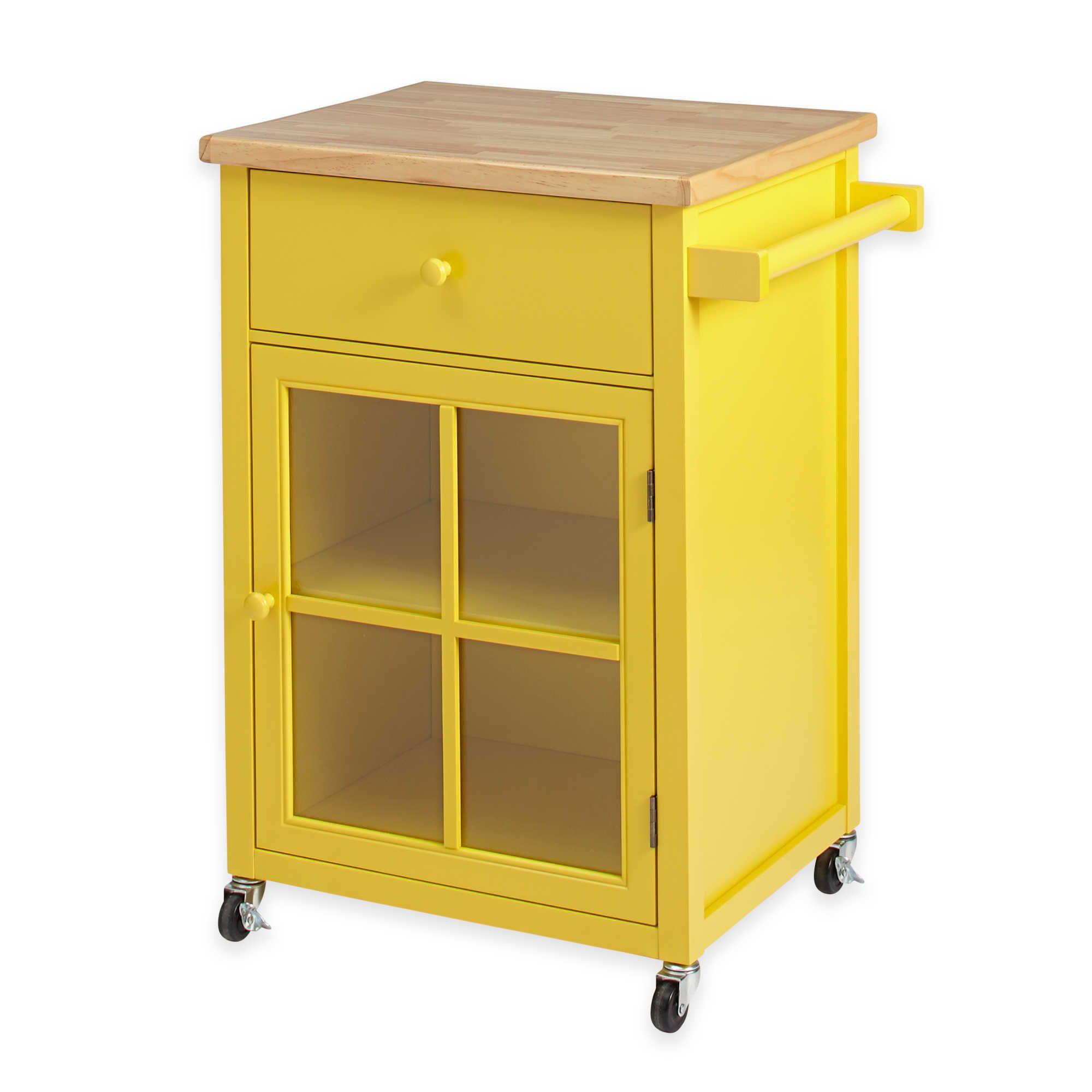 Chatham House Baldwin Kitchen Cart in Yellow Fun Pinterest