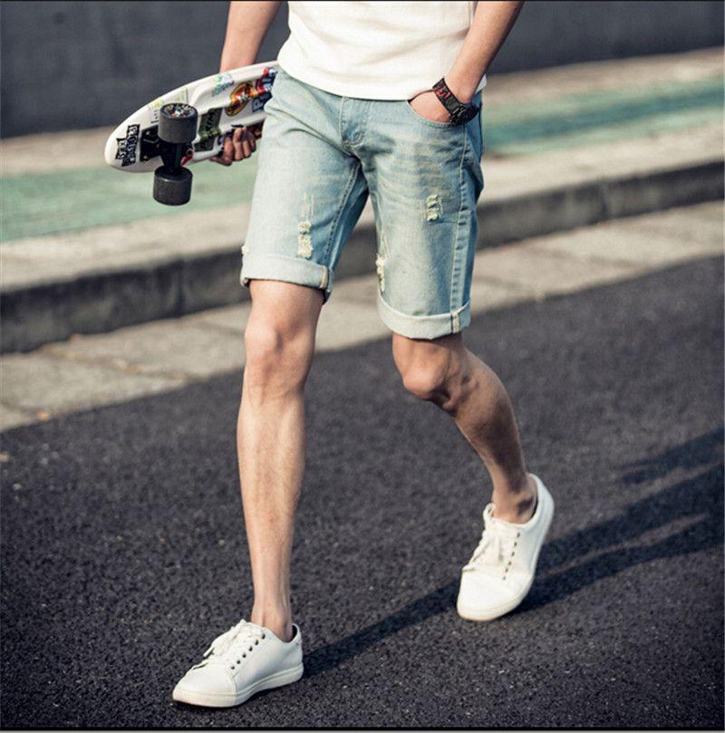 2015 cowboy shorts men, new casual mens denim shorts retro man ...