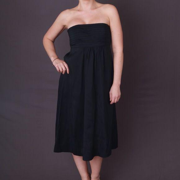 Size 0 BR Black Midi Dress Excellent Used Condition Banana Republic Dresses