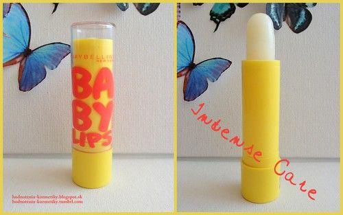 Hodnotenia kozmetiky: Maybelline *Baby Lips* Intense Care - balzam na pery