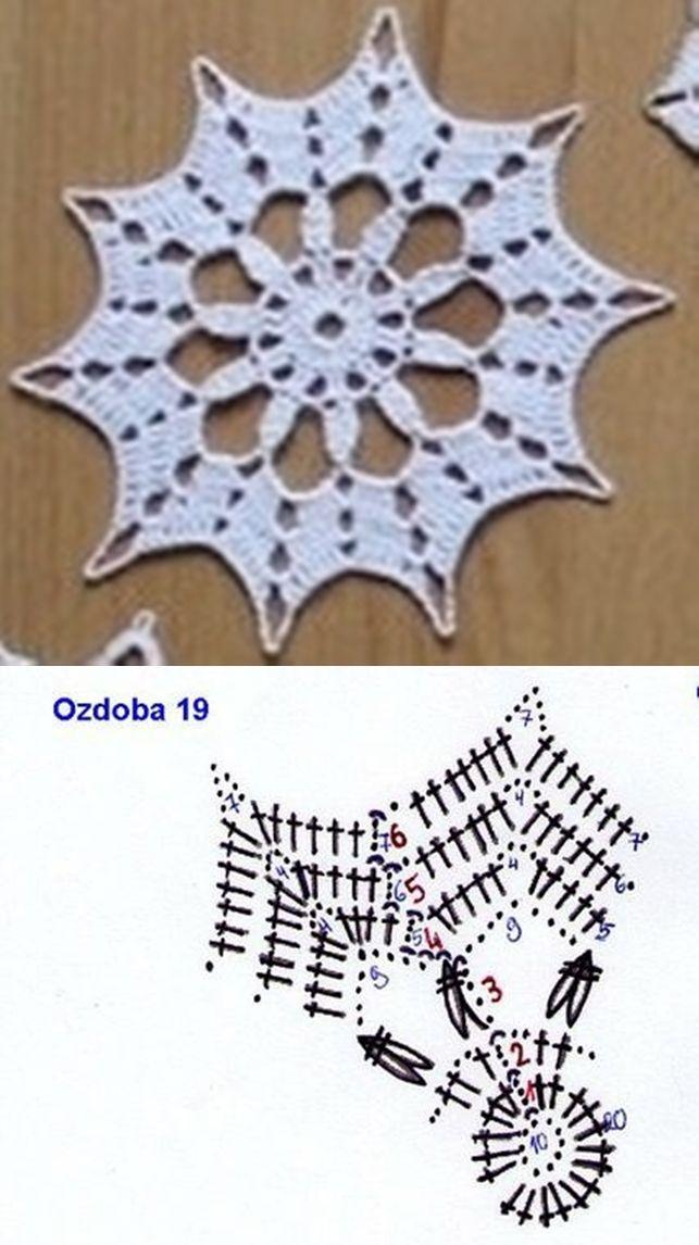 snowflake 644 | Patrones de ganchillo | Pinterest | Atrapasueños ...
