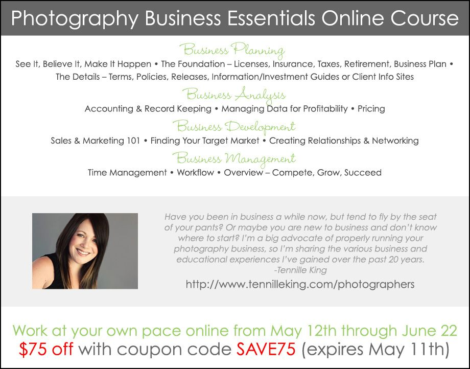 Save 75 Photography Business Essentials Online Course