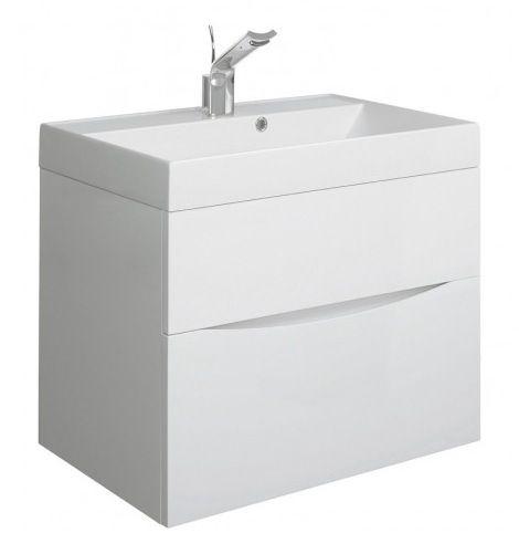 Bauhaus Glide II 70 White Gloss Drawer Vanity Unit
