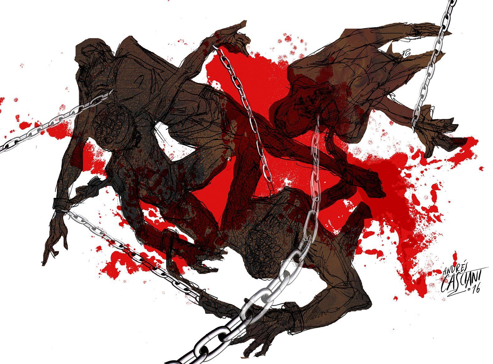 """""""Los hijos de los días"""" - Galeano ilustrado por Casciani 29/2 . acá podés leer el texto:http://andrescasciani.blogspot.com.ar/2016/02/los-hijos-de-los-dias-galeano-ilustrado_29.html"""