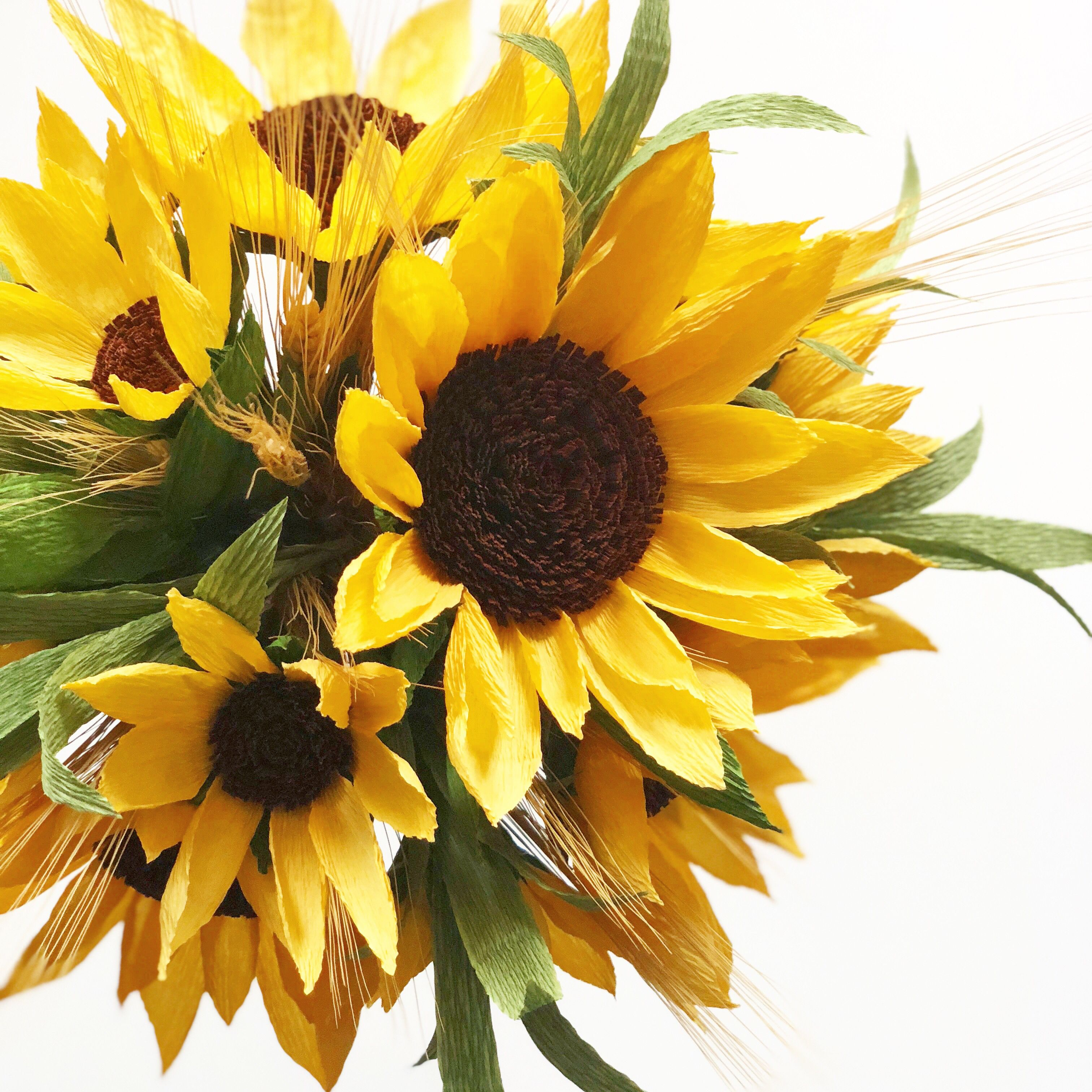 Little Paper Flowers Paper Sunflowers Flower Drawing Paper Flower Art