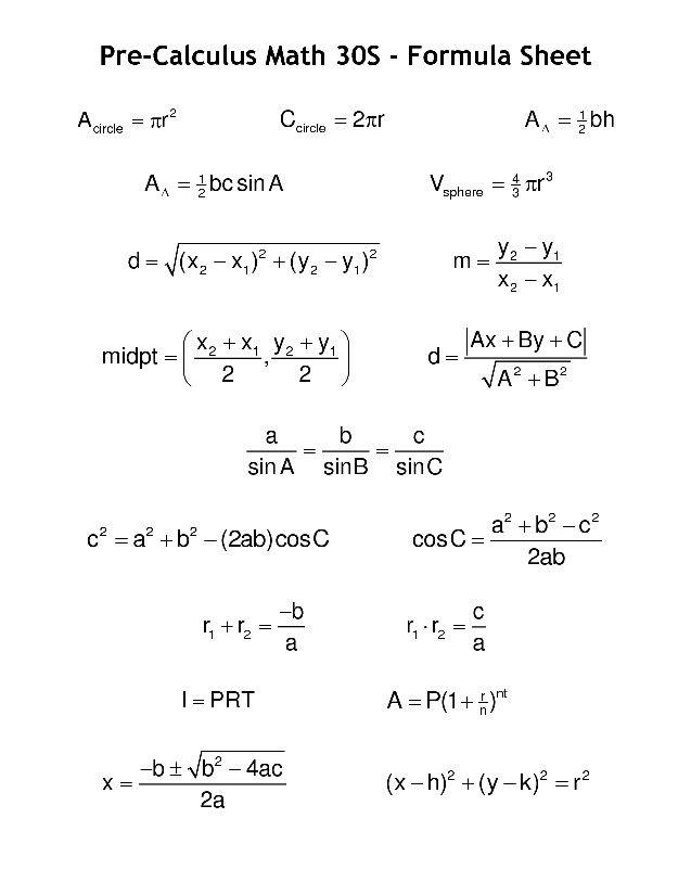 precalc math formulas pinterest math mathematics and 8th