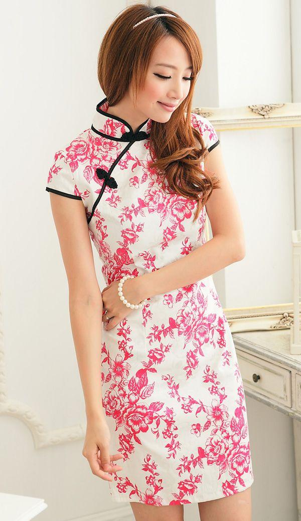 Full Flower Design Cheongsam | Chinadress&jewelry1 | Pinterest ...