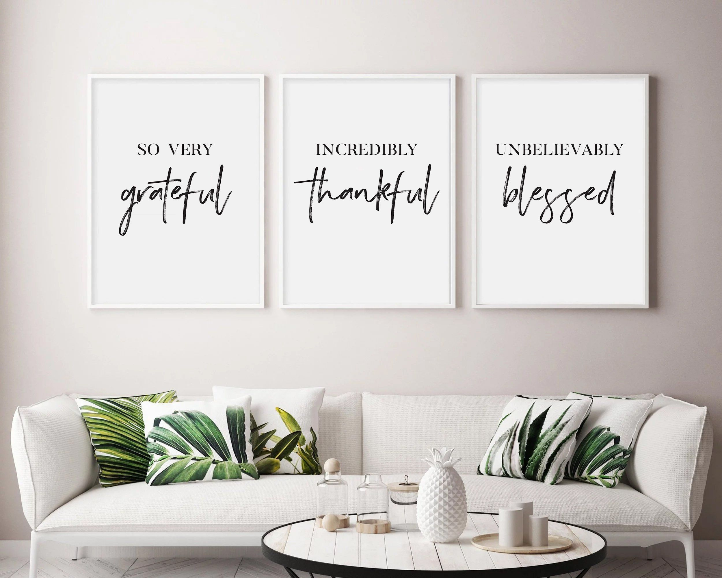 Grateful Thankful Blessed Printable So Very Grateful Etsy Guest Room Print Tumblr Room Decor Christian Wall Art Printable