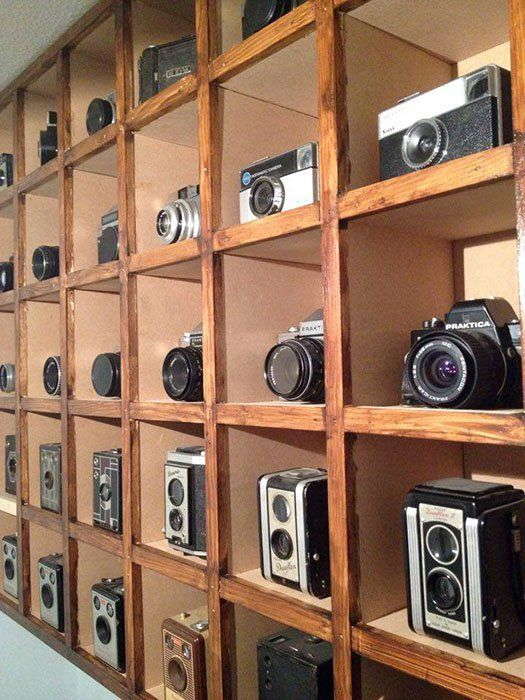 This Photographeru0027s Office Features His Collection Of Vintage Cameras