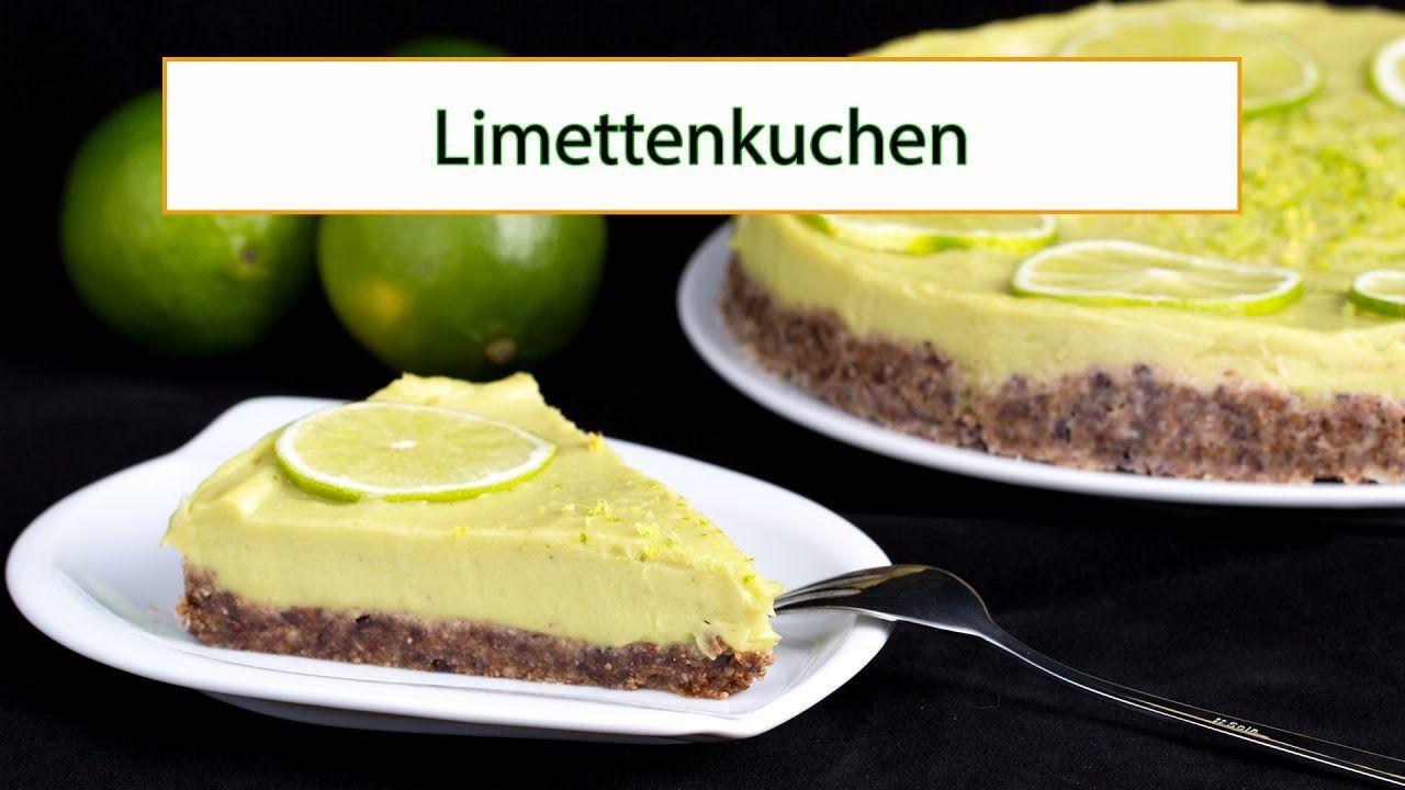 Rezeptvideo: Limettenkuchen in Rohkostqualität – glutenfrei -> https://youtu.be/UrXjc_ydREU #gesundheit #ernaehrung #rezept #vegan #rohkost