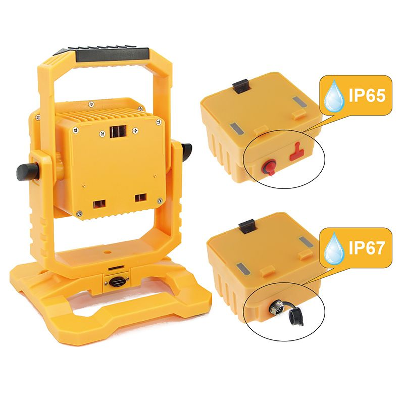 Ip65 Ip67 Led Rechargeable Flood Light 10w Detachable Flood Light Dc12v Portable Work Light Lamp Cool White Outdoor S Flood Lights Led Flood Lights Work Lights