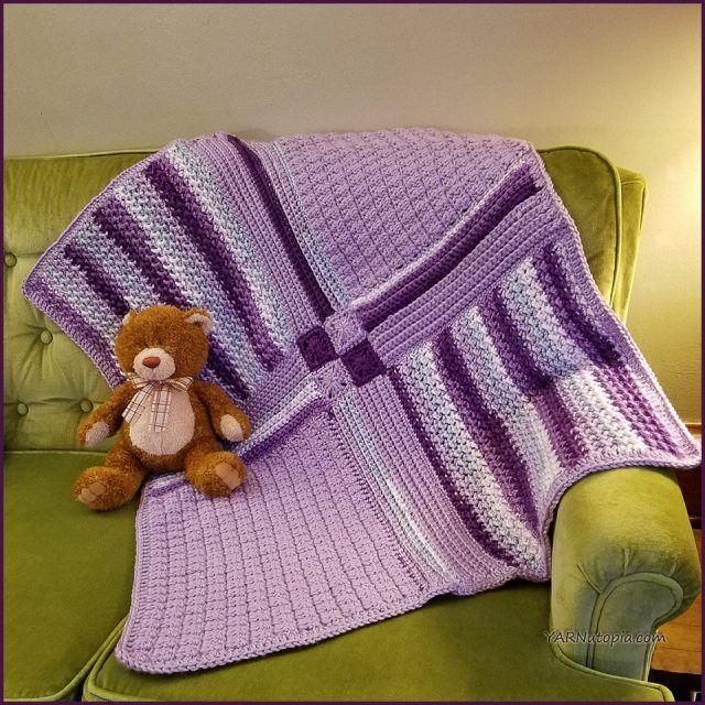 mosaico de ganchillo bebé manta patrón libre | Mantas de ganchillo ...