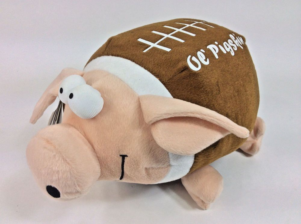 Ol Pigskin Goofball Cheer Sound Shakes Plush Pig Football 12 New