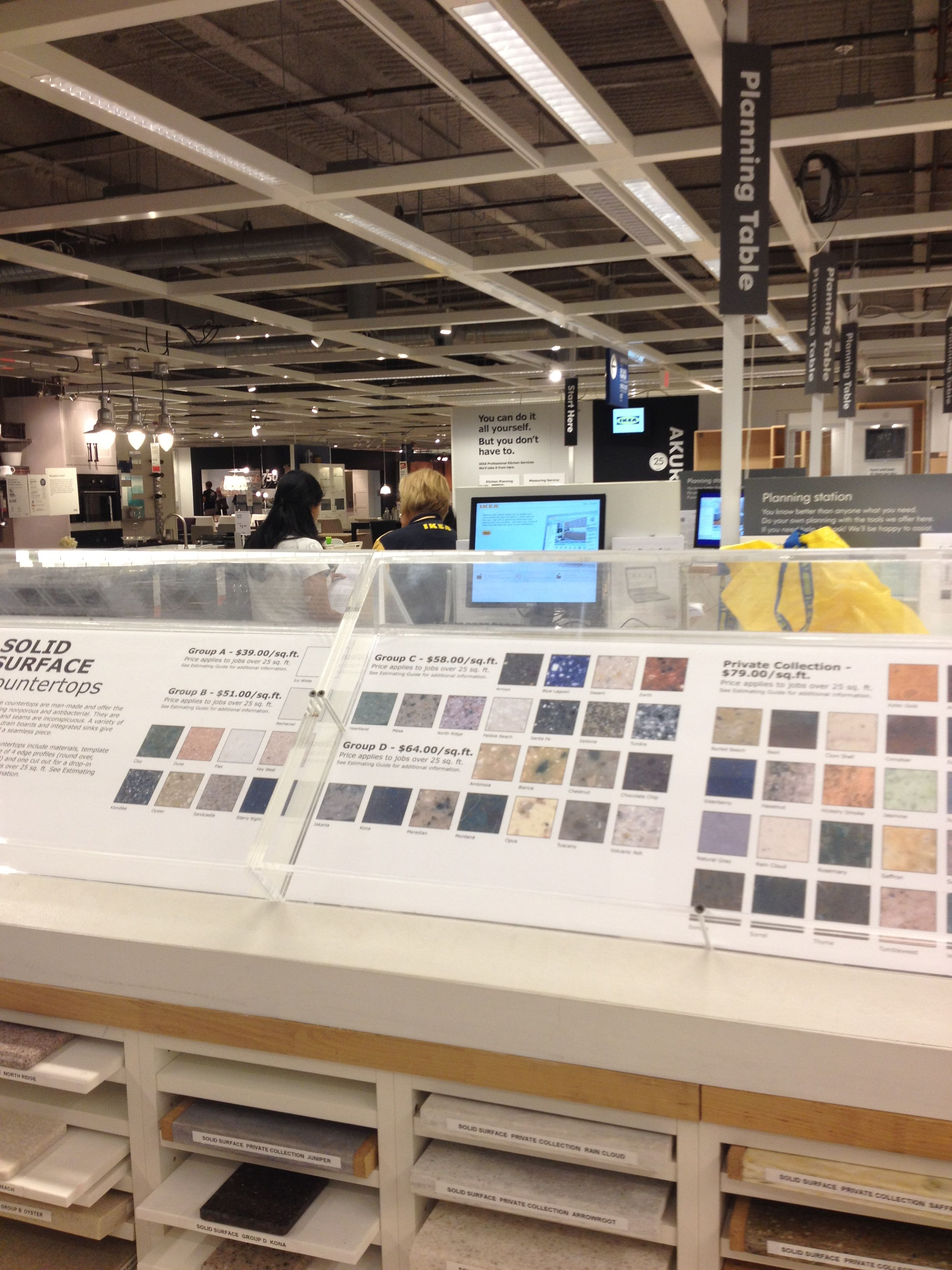 More quality time in the Ikea kitchen section.