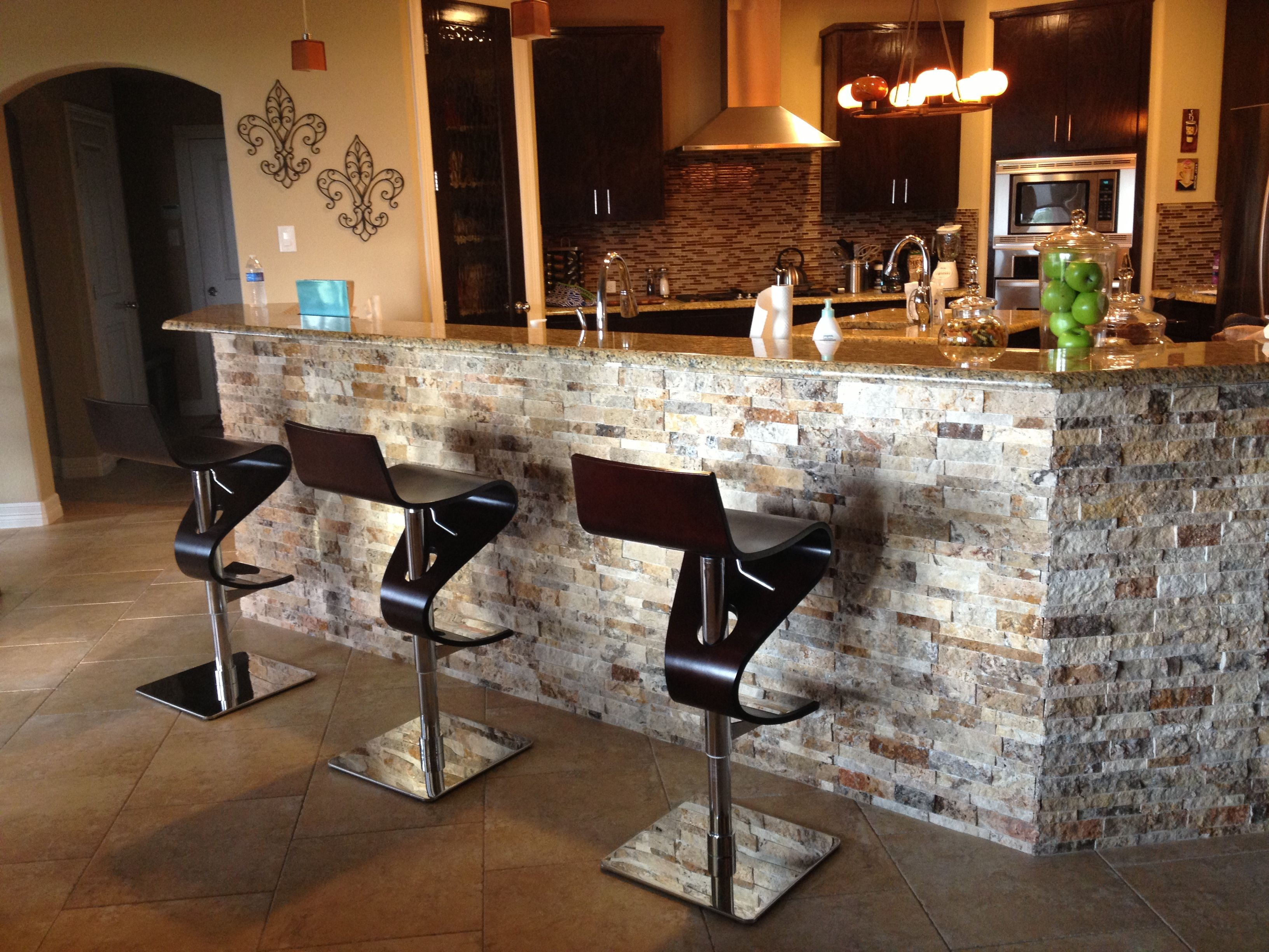 Stone Kitchen Tile Under Kitchen Bar Arizona Tile 3d Stacked Stone Under Bar