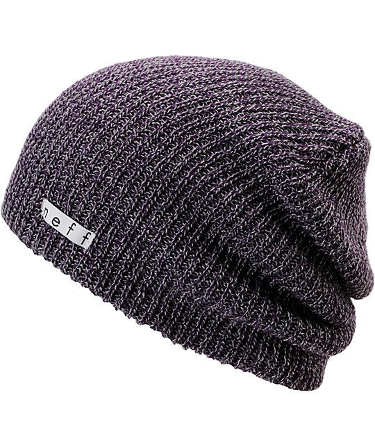 5566d37c9971c4 Neff Daily Heather Purple & Grey Beanie in 2019 | Christmas/Birthday ...