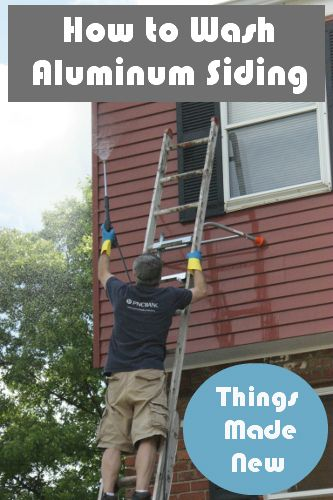 How We Washed Our Aluminum Siding How To