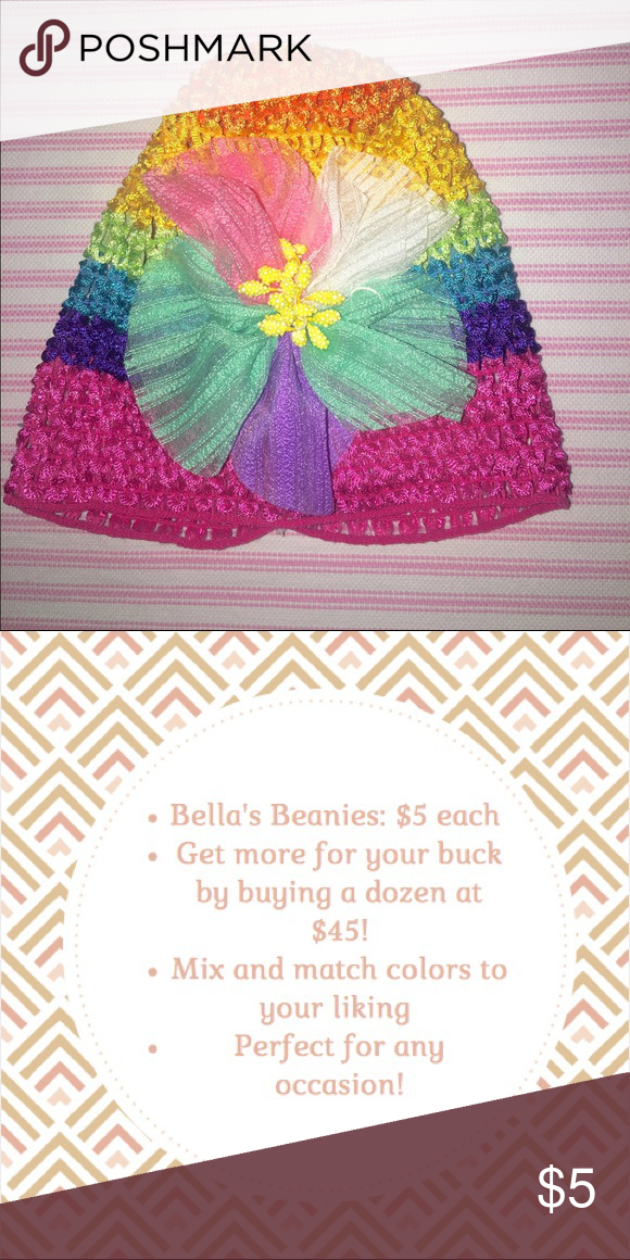 Bella Multicolored Beanie Little Baby Girl's Beanie Very cute and simple Available in several colors Savings come when you bundle  Made with love 💕 Janie and Jack Accessories Hair Accessories
