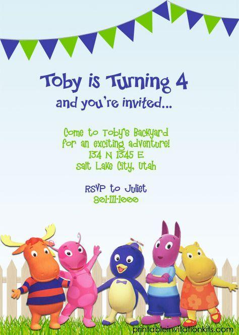 Backyardigans Birthday Card Love The Wording On This Invite