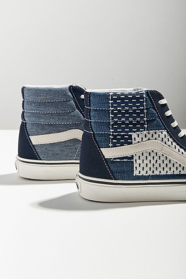 0285fe539be Vans Sk8-Hi Patchwork Denim Sneaker in 2018