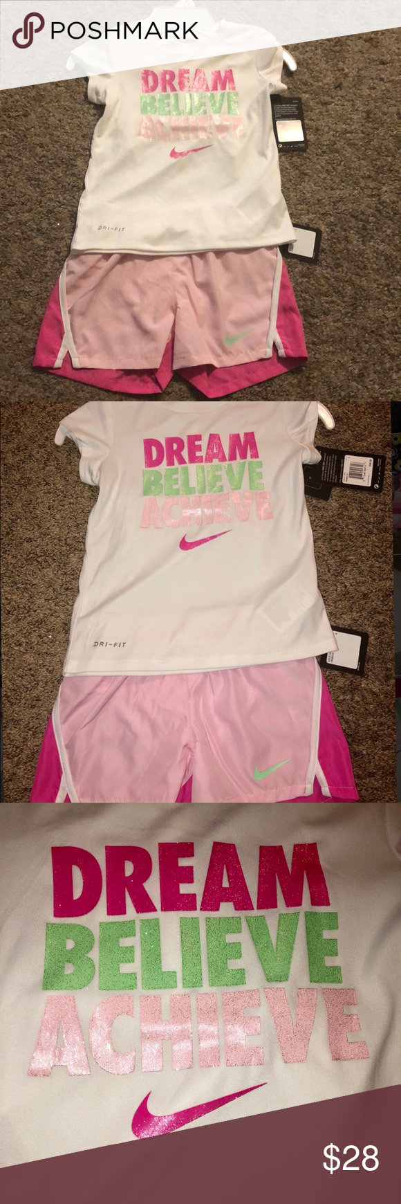 4c4a72e7 NWT Girl's Nike 2 Piece Set This is a NWT Nike outfit, size 5. I always  offer at least 10% off on the purchase of 2 or more listings.