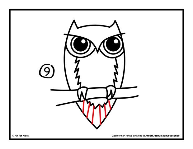how-to-draw-an-owl-step9.jpg (620×479)