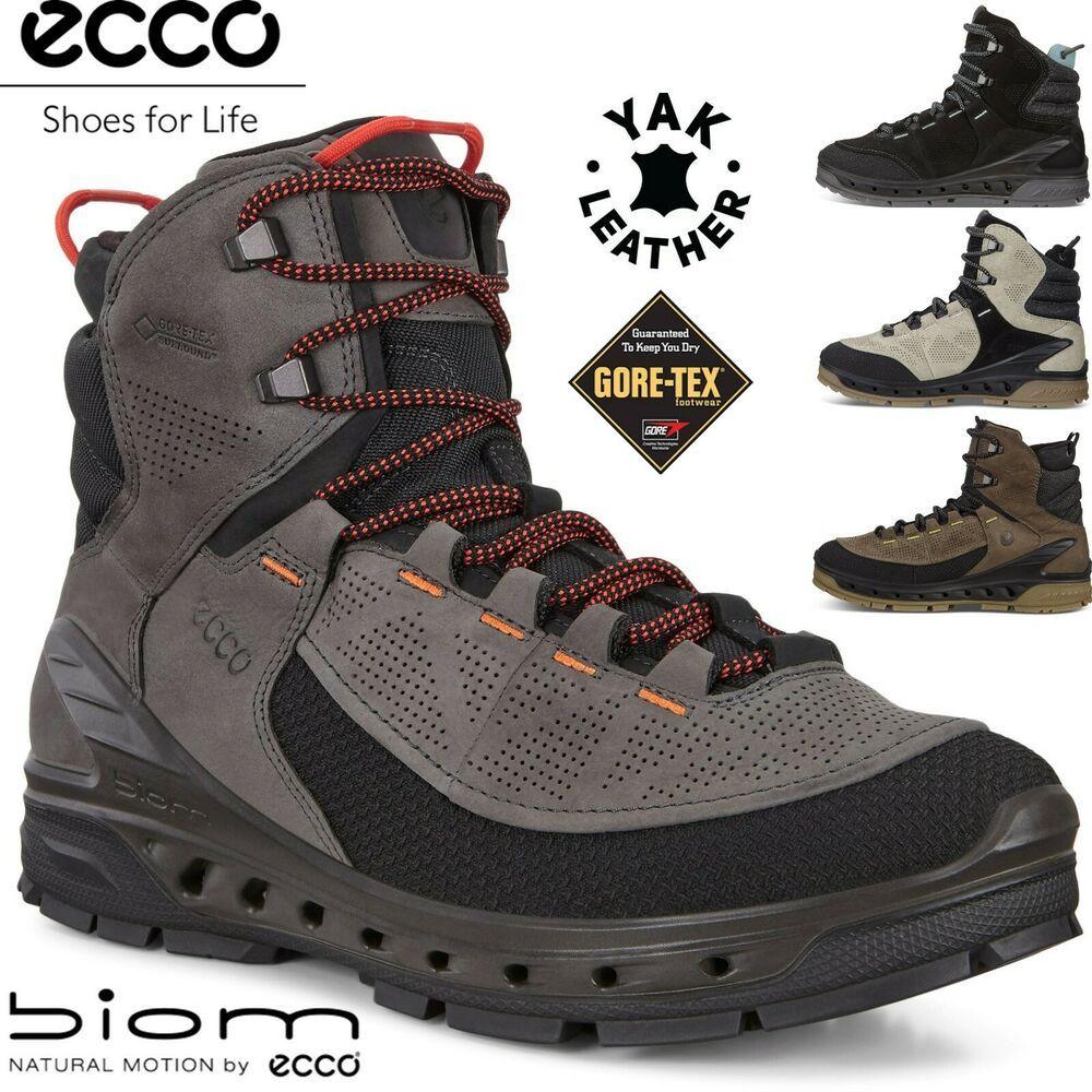 Ecco Biom Venture Tr Goretex Yak Leather All Terain Outdoor Hiking Boots Ecco Hikingtrail Sneakers Men Fashion Brown Hiking Boots Hiking Boots