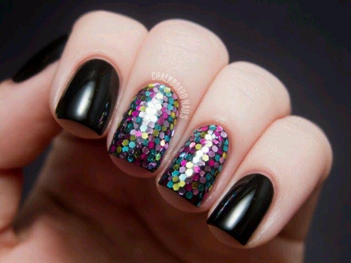 Black vs glittery