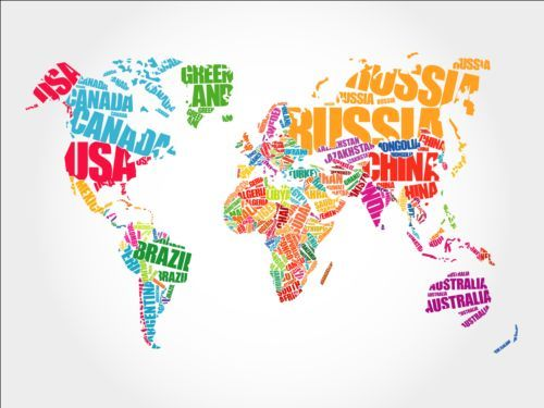 Country text with world map vector -    wwwwelovesolo - copy rainbow world map canvas