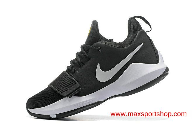 25c021a842de0 Nike PG 1 TS Prototype EP Black White Men s Basketball Shoes