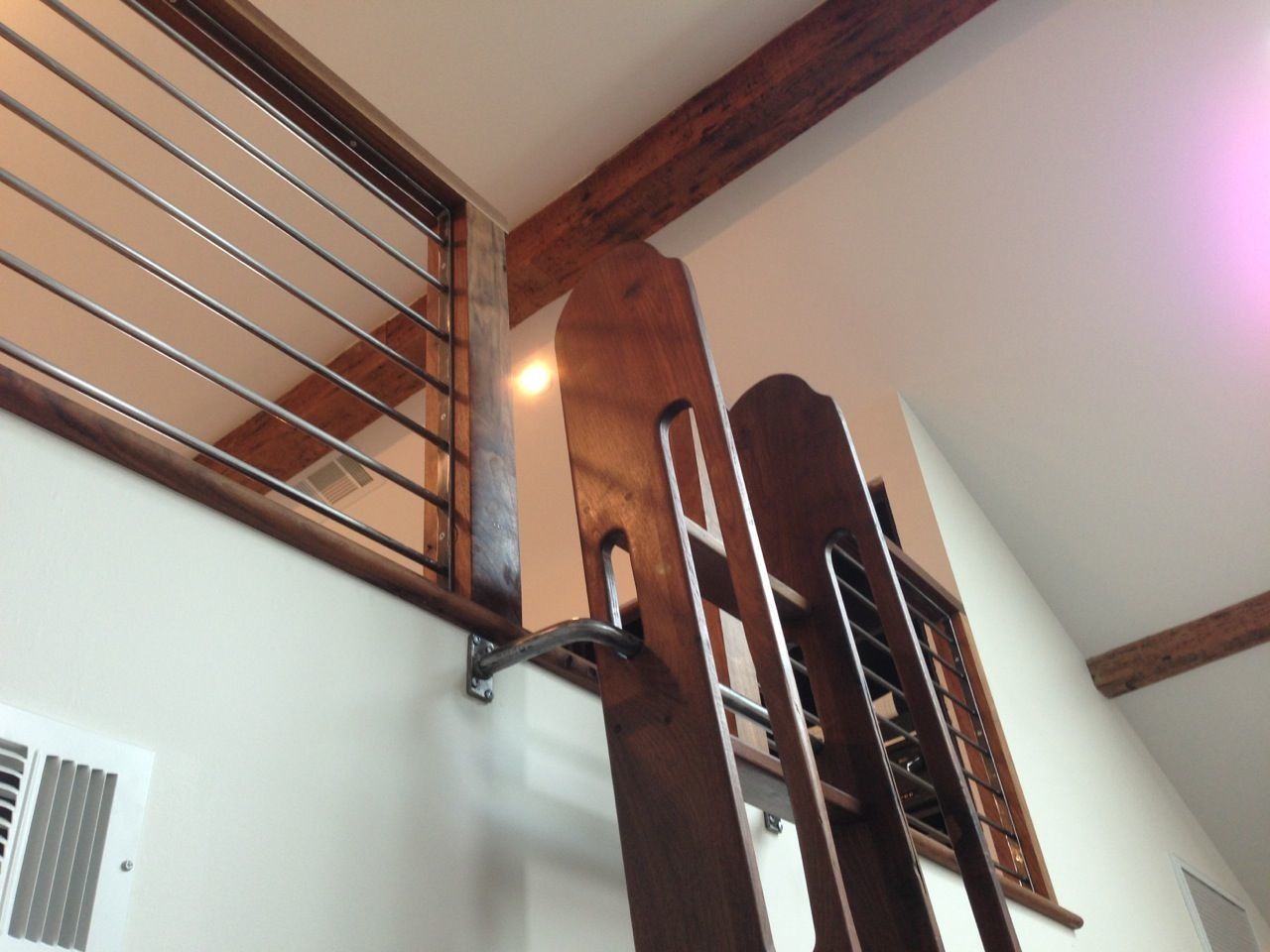 our pivoting loft ladder adds an extra layer of safety by holding the ladder in place