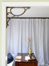 Cute idea. Iron brackets in corners