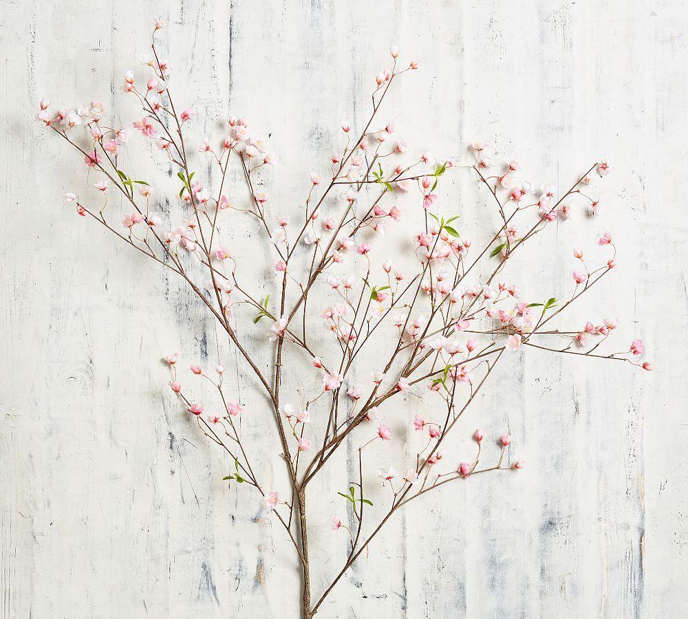 Faux Sakura Cherry Blossom Branch Pink Cherry Blossom Branch Sakura Cherry Blossom Cherry Blossom