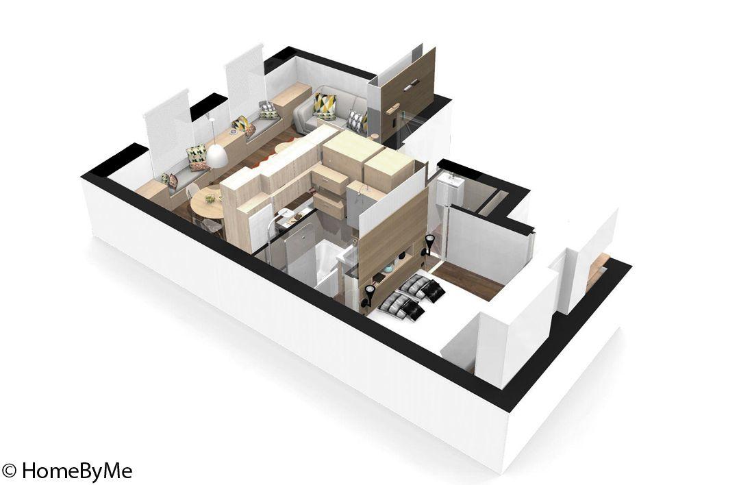Emejing Aménagement Petit Appartement 40m2 Images ...