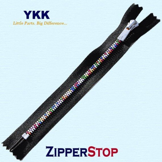 "100 18/"" Invisible Zippers ~Closed Bottom~ Black ~ YKK"