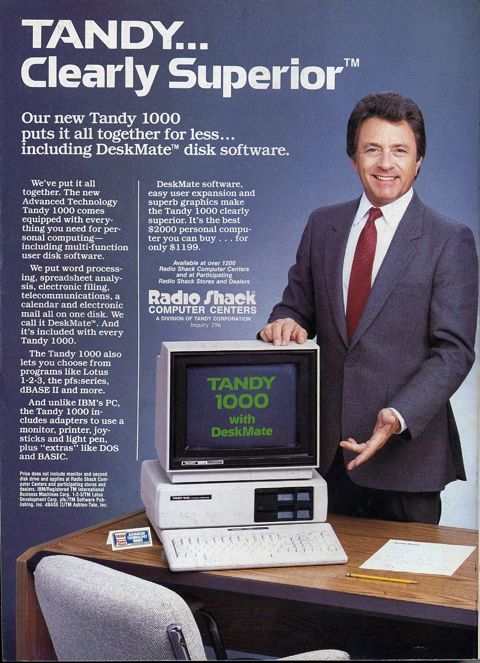 Www Bing Com1 Microsoft143 305 70: Bill Bixby With His Tandy 1000 My First Computer!