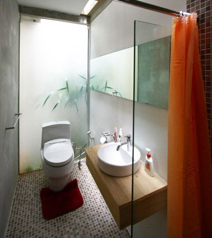 Bäder einrichten  kleine bäder einrichten wunderschöne duschkabine cooler teppich ...