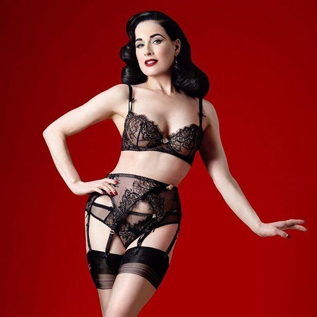 1cb114fdf4c regram  ditavonteese  ditavonteeselingerie  Coquette  lingerie with my  signature six strap suspender belt