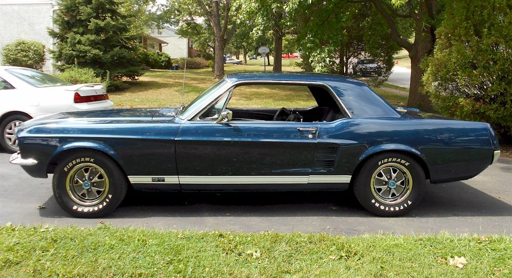 Nightmist Blue 1967 Mustang Gt Hardtop 1967 Mustang Mustang Blue Mustang