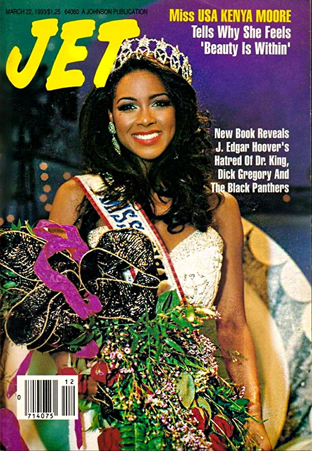 KENYA MOORE JET MAGAZINE MARCH,22,1993 COVER