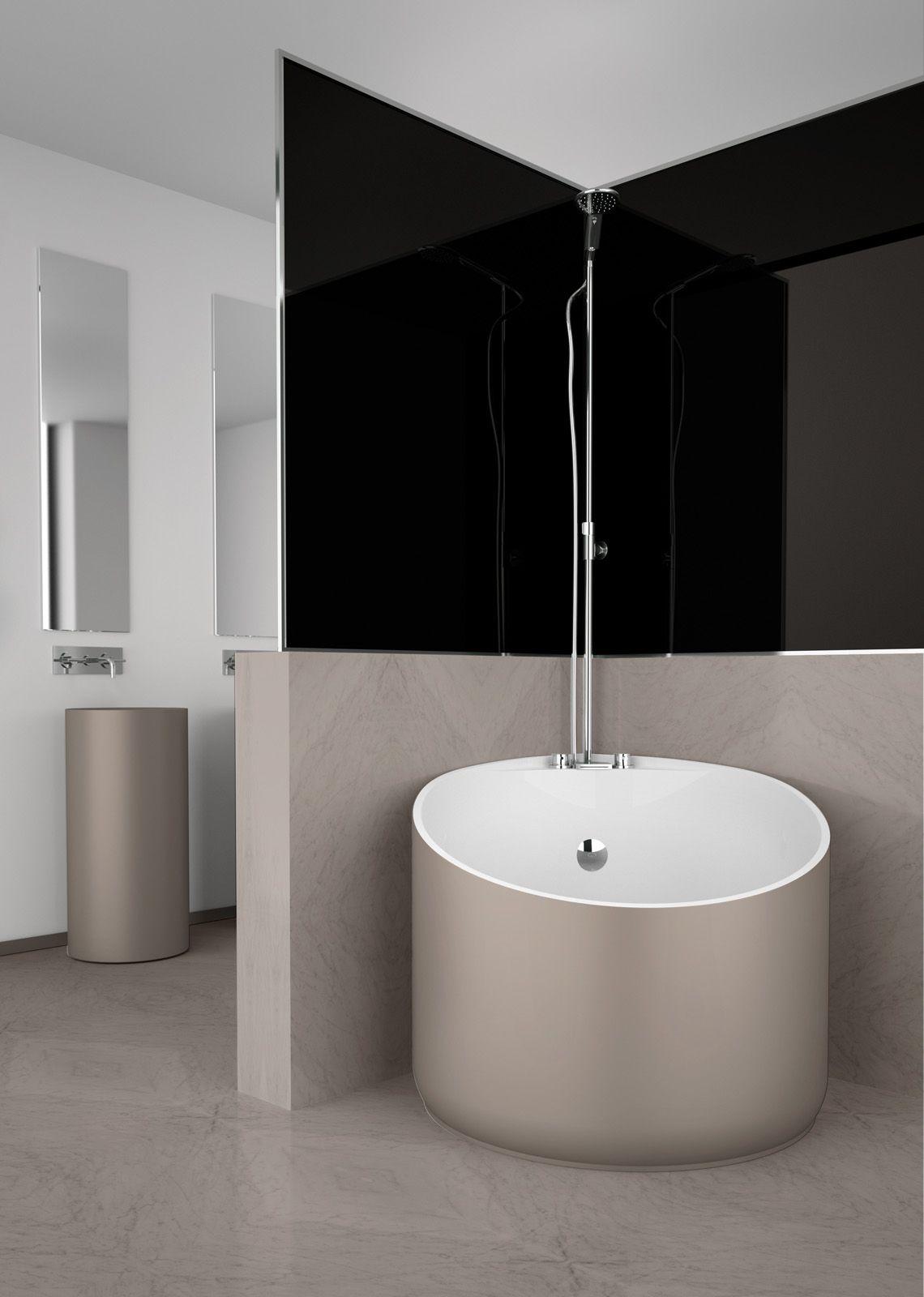 Mini #bathtub by #GlassDesign in 8 finishes including tortora (shown ...