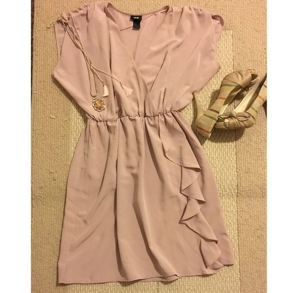 H&M Rose silky Dress Wore tree times!Perfect condition on very soft silky fabric! H&M Dresses Midi