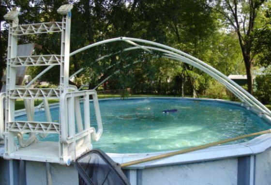 Poolabdeckung Rund Selber Bauen - Für einen Pool mit einem