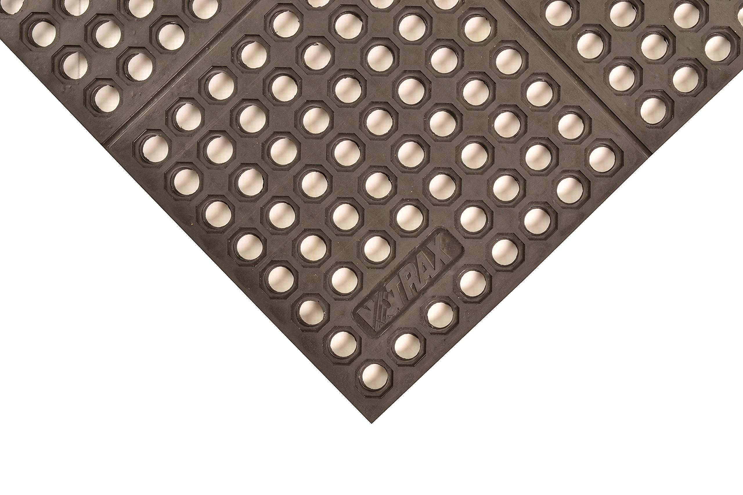 Notrax T56 Ultra Mat Max Rubber Safety Anti Fatigue Mat For Wet Or Greasy Areas 3 Width X 3 Length X 3 4 Thickness Black Re Anti Fatigue Mat Wet Greasy