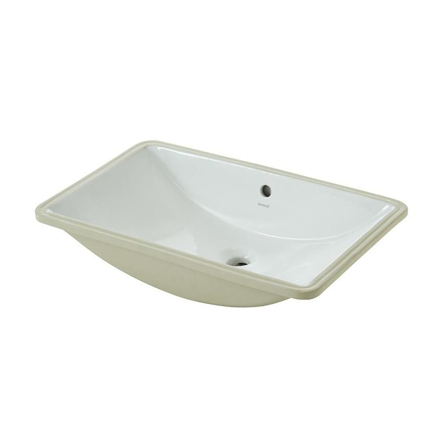 Jacuzzi Mika White Undermount Rectangular Bathroom Sink With Overflow $84  Lowes.com
