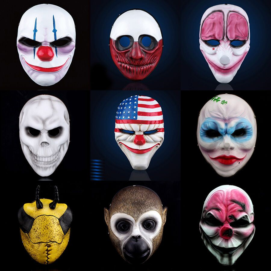 H D Payday Mask Heist Joker Costume Cosplay Prop Gift Game Board For Dallas Gift Joker Costume Cosplay Props Halloween Film