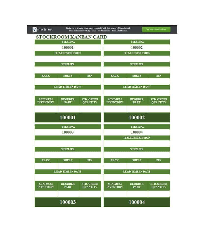 25 printable kanban card templates  how to use them ᐅ