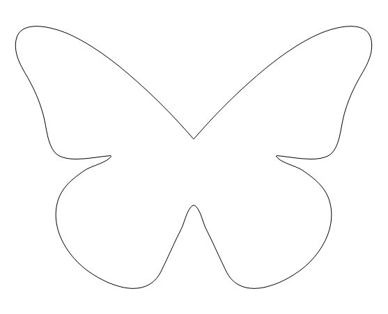 CLIPS DE MARIPOSAS Butterfly, Template and Stenciling - butterfly template