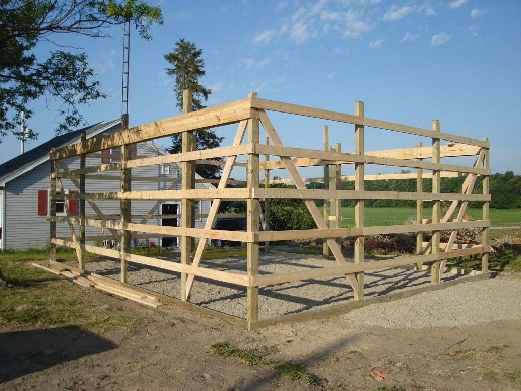 24 x 30 pole barn garage construction materials by for Pole barn layout